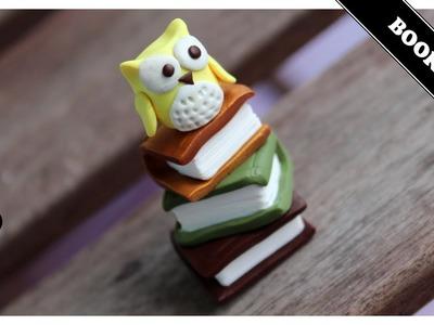 Book Owl (Polymer Clay)