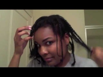 Braid out on dry natural hair Tutorial (inspired by Curly Nikki)