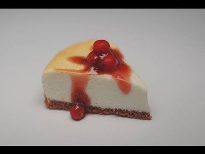 Cherry Cheesecake Tutorial, Miniature Food Tutorial, Polymer Clay Tutorial