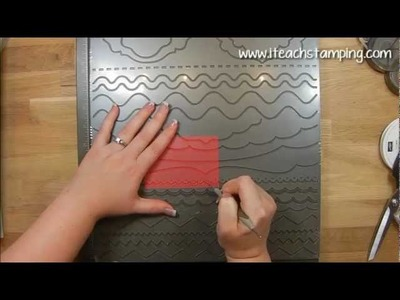 Embossing and Debossing using your Borders Scoring Plate from Stampin' Up!