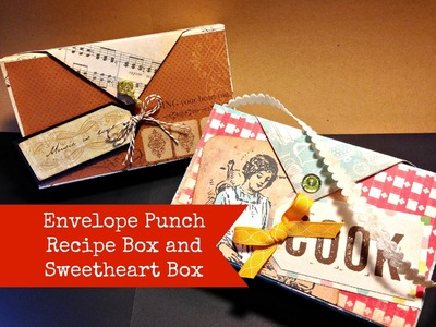 Envelope Punch Board Box for Valentines Day