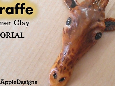 Giraffe Pendant.Charm - Polymer Clay Tutorial - Tribute to Marius