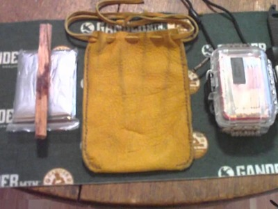Hand made Elk Hide ditty bag sewn with artificial sinew