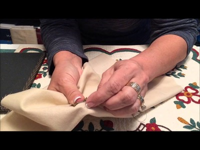 How To Hand Applique Tiny Stems - Back Basting