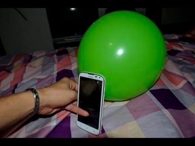 How to make a mobile phone case with colorful balloon homemade