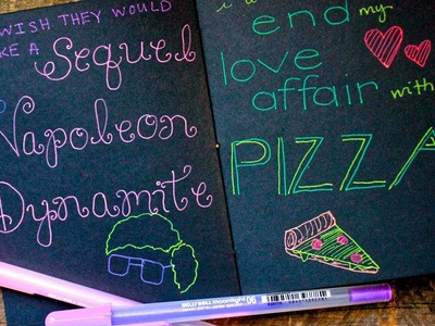 How to Make and Decorate a Black Paper Notebook