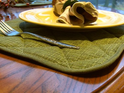 How to Make Quilted Placemats