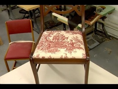 How to Reupholster a Dining Chair - This Old House