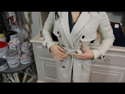 How to Tie a Trench Coat Belt : Diverse Fashion Statements