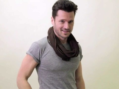 Mens Brown Infinity Scarf. Womens Circle Scarves - NECKLUSH