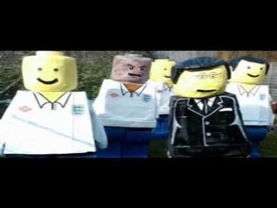 Quick guide to making a lego minifig England world cup squad costume.