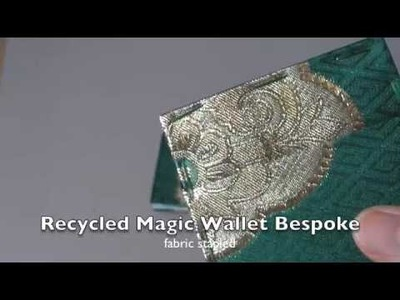 Recycled Magic Wallet Bespoke - details
