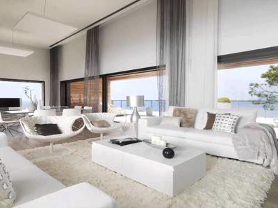 White Interior Design of Modern Cliff House