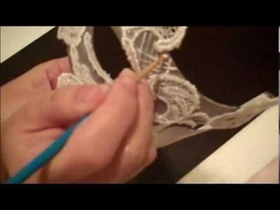 White Lace Masquerade Mask DIY part 1