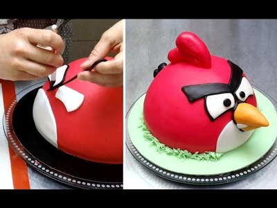 ANGRY BIRD CAKE How To - Birthday Cake Ideas by Cakes StepbyStep.