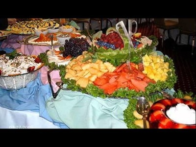 Buffet table decoration