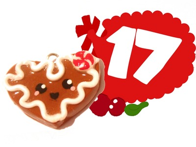 ❤ Gingerbread Heart! Kawaii Christmas 17 -Polymer Clay tutorial