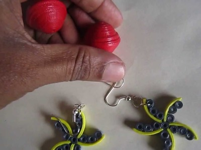 Handmade Jewelry - Paper Quilling Star Earrings (Free Form Quilling - Not a Tutorial)