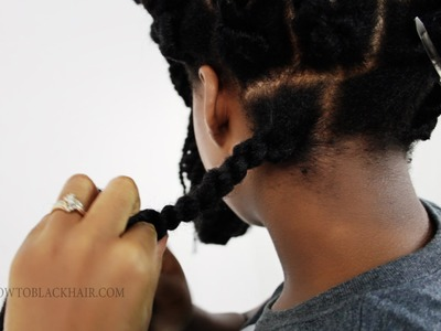 Havana Twists: How To Rope Twist The Back Of Your Own Head Tutorial Part 4