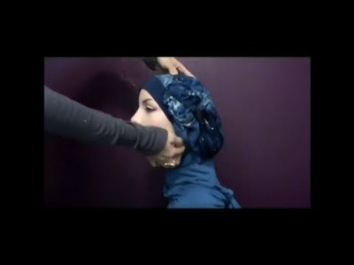 Hijab tutorial:modern style with a flower