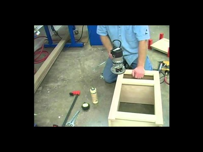 How to flush trim face frame on cabinet