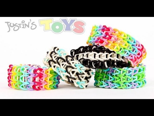 How to Make A All Around Triple Rainbow Loom Bracelet Tutorial