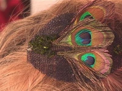 How To Make A Beautiful Peacock Hair Clip