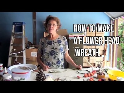 How To Make A Flower Head Wreath
