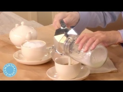 Martha Stewart's Perfect Homemade Latte - Martha Stewart