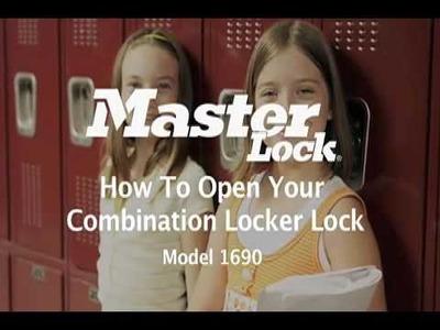 Master Lock 1690 Built-In Locker Locks - Student Training Video