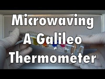 Microwaving A Galileo Thermometer In HD Wide Screen