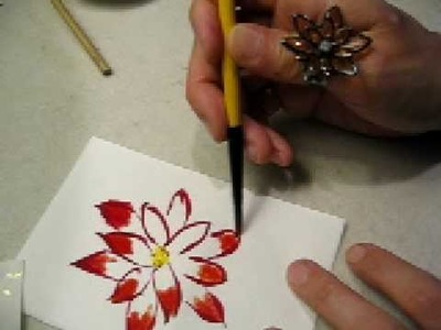 Paint and color a flower freehand