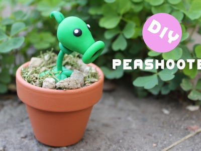 Plants vs Zombies Peashooter Polymer Clay Tutorial
