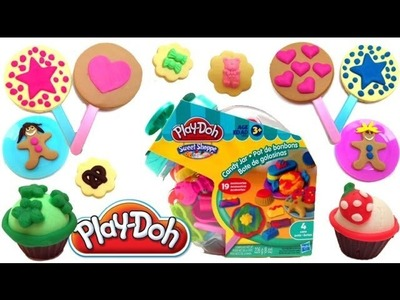 Play Doh Candy Jar How to make Playdough Sweet Confections Hasbro Toys