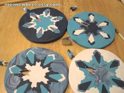 Polymer clay snowflake cane tutorial.m4v