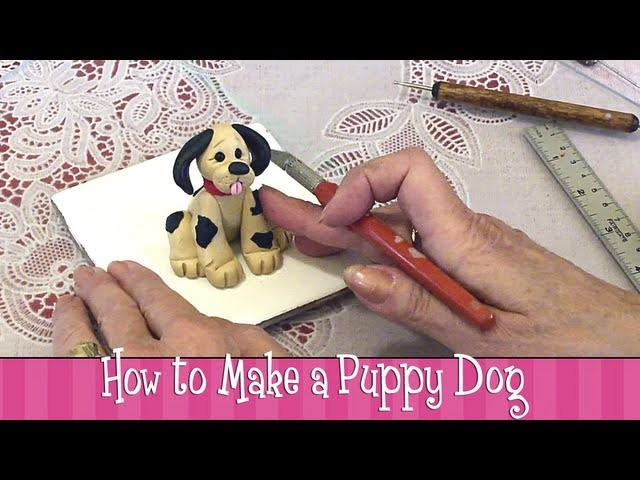 Polymer Clay Tutorial - How to Make a Puppy Dog