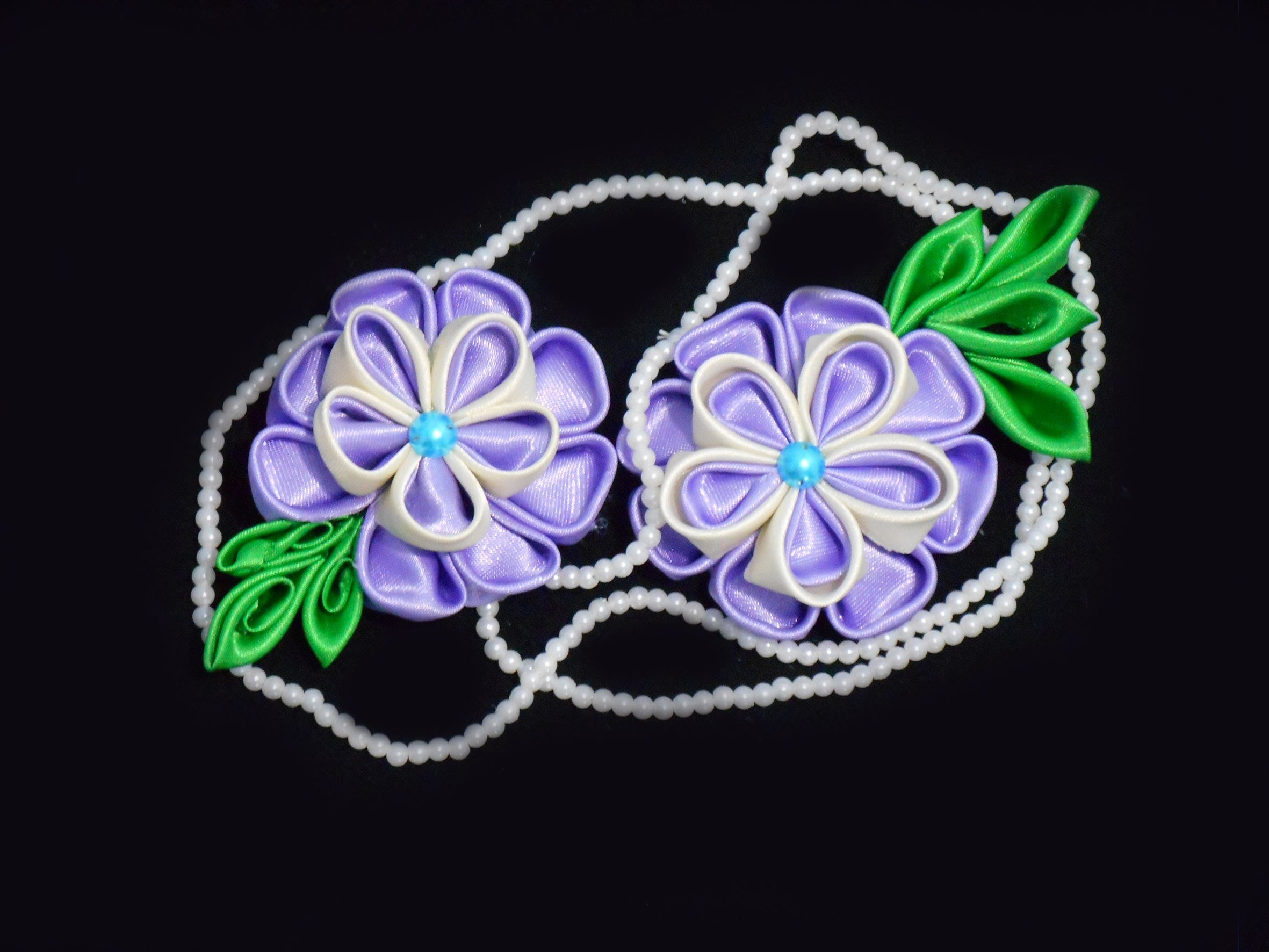 Ribbon Flowers. How to Make Ribbon Flowers. Kanzashi flowers
