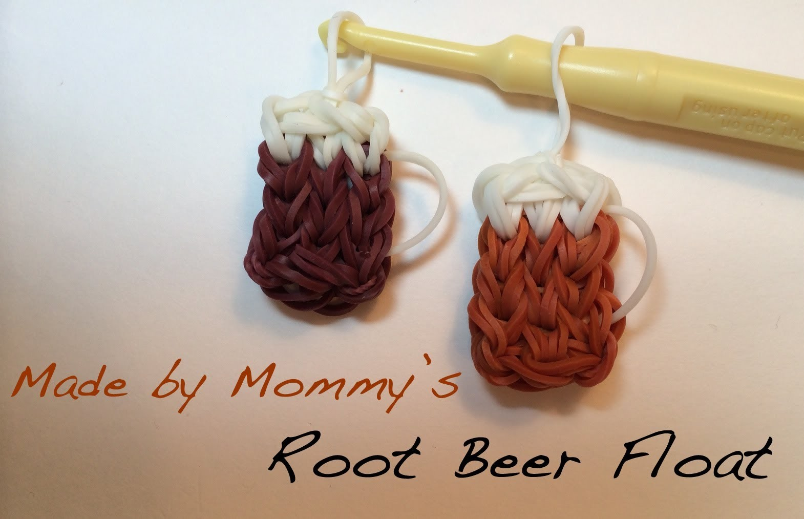 Root Beer Float Charm on the Rainbow Loom