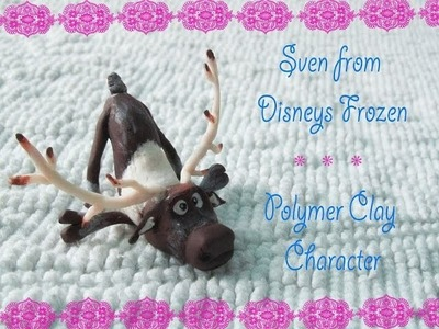 Sven from Disyneys Frozen in Polymer Clay
