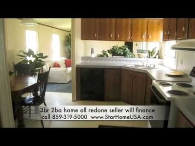 3.2 mobile home, seller will finance 0% int, low down 68 payments and it is free and clear