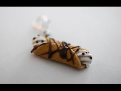 Cannoli Tutorial, Miniature Food Tutorial, Polymer Clay Food Tutorial