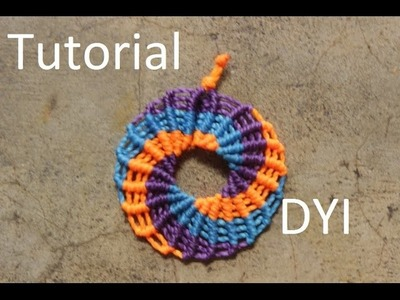 Circle earrings macrame - Tutorial