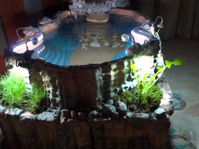 DIY INDOOR POND WITH WATERFALL
