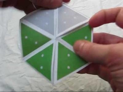 Flex notation for a hexaflexagon