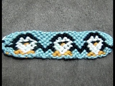 ► Friendship Bracelet Tutorial - Intermediate - Tuxedo Penguin Chorus