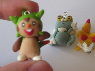Gen 6 Pokemon Starters Polymer clay Charms