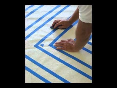 How easy it is to paint your own area rug