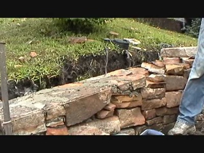 How I build a small stone wall (part 3 of 4) Mike Haduck