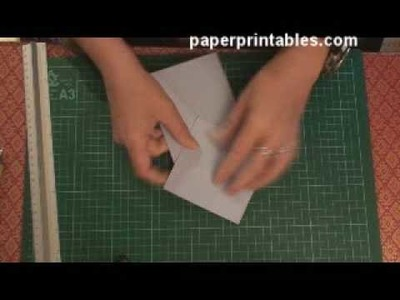How to make a 3d diamond topped card tutorial