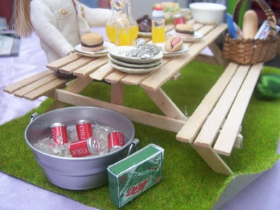 How To Make A Miniature Dollhouse Picnic Table